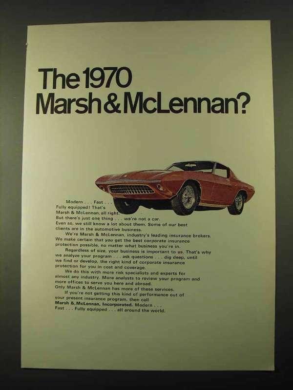 1969 Marsh & McLennan Ad - The 1970