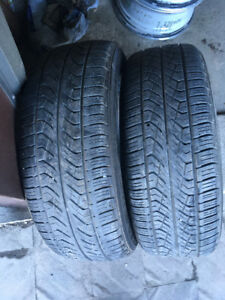 2 ALL SEASON TIRES 225/55/17 YOKOHAMA GEOLANDAR