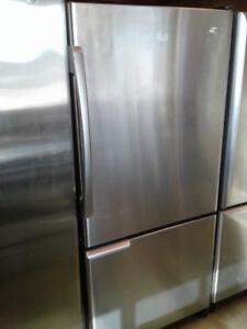 """fridge Amana bottom freezer 30"""" stainless s"""