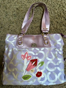 Tote bag, lavender colour, used once
