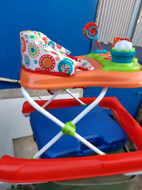 Baby seated push walker immaculate