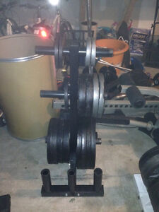 Metal Olympic Weight Plates - 45s, 35s, 25s, 5s,
