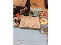 Boxed ps1 PlayStation 1 3 games 1 memory card 1 controller