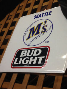 Seattle Mariners BudLight Beer Sign Metal $50