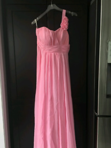 Rose pink dress (bridesmaid, prom, party)