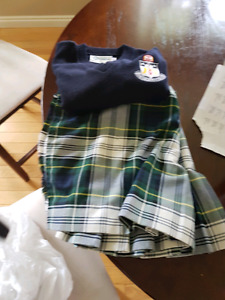 Nicholson uniform kilt size 34 and vest size small medium $20.00