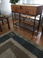 Mexican console table or bakers rack