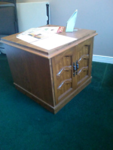Two storage end tables for sale