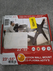New boxed TV wall mount stand bracket. Full movement