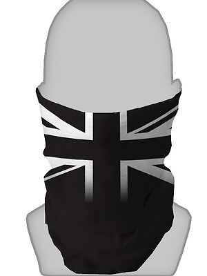 BLACK  & WHITE UNION JACK DESIGN NECKTUBE SCARF FACE MASK NECK WARMER SNOOD