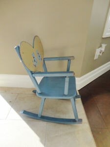 Solid Wood Blue Baby Rocking Chair -Could use a couple touch ups Kitchener / Waterloo Kitchener Area image 2