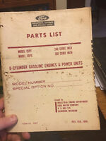 Ford 240, 300 Industrial Engine Parts Manual