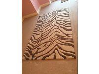 Animal Print Wool Rug
