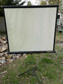 rank da lite projector screen tripod, used for sale  Horley, Surrey
