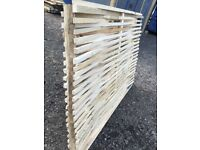 Timber oak panels 6ft long by 4ft in height.