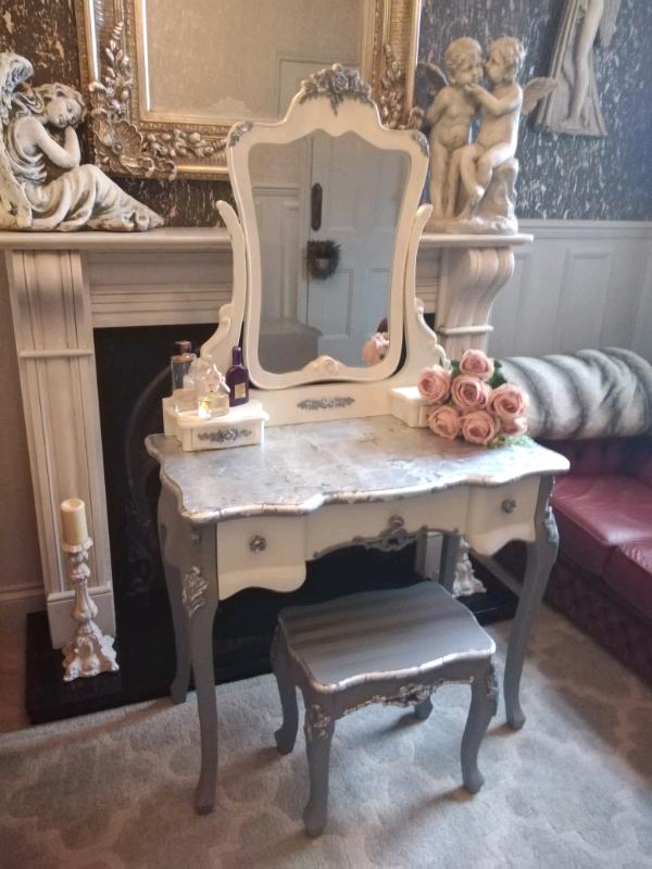 Bespoke Stunning French Style Dressing, Mirrored Dressing Table Set Gumtree