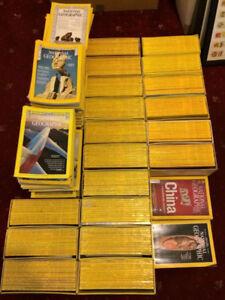 hundreds of national geographic magazines