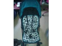 KIDDICARE BUGGY WITH RAINCOVER
