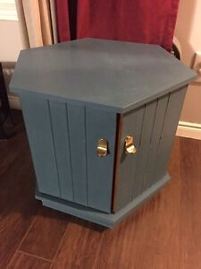 Chalk-painted end table