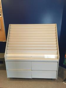 Book/Magazine Retail Shelf with Storage Drawers