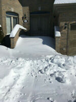 Snow removal from steps, driveways etc