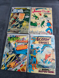 Silver Age Comics. Batman and Superman