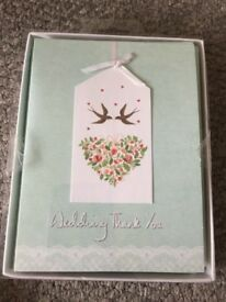 Wedding Thank You Cards x10
