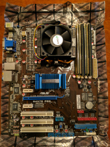 CPU MOBO RAM combo (quad core AMD, 6gb ram) - good server!