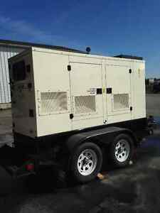 2011 60 KW Caterpillar Generator with trailer