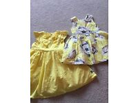 2 girls party dresses age 18-24months