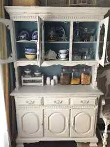 Solid wood old hutch