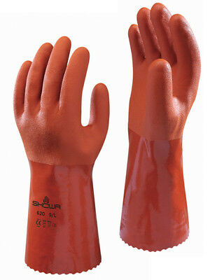Showa 620 Pvc Chemical Resistant Liquid Proof Gloves Any Size Free Shipping