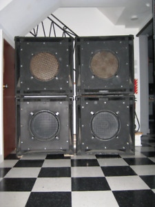 ENSEMBLE/SET (4 ) BOITES DE SON/SOUND BOX/ HAUT PARLEUR/SPEAKERS