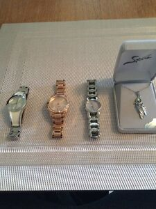 Brand new watches and necklace