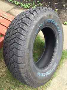 Two almost new truck tires