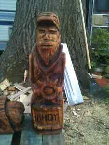 chainsaw art carving Sailor