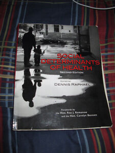 SOCIAL DETERMINANTS OF HEALTH 2ND EDITION BY DENNIS RAPHAEL