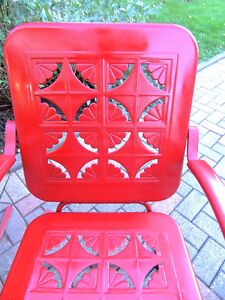 mid century chairs, outdoor furniture, vintage metal chairs, London Ontario image 3