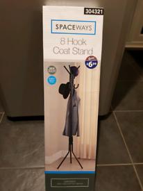 Black B&M SPACEWAYS 8 hook coat stand RRP £7