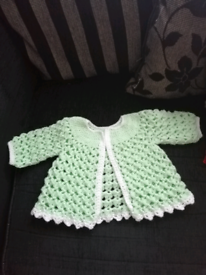 Brand New Baby crochet cardigan