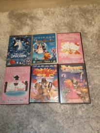 DVDs girls x 6
