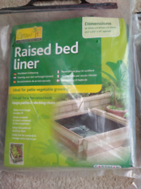 Gardman raised bed liners- two available- 1 metre X 1 metre