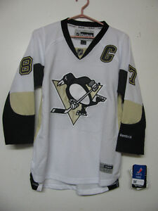 NHL REEBOK OFFICIAL PITTSBURGH PENGUINS CROSBY HOCKEY JERSEY NWT