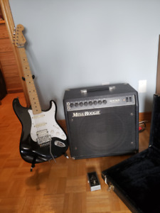 Fender Stratocaster with  case and Mesa/Boogie amplifier