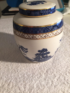 ROYAL DOULTON BOOTH'S REAL OLD WILLOW GINGER JAR Blue Willow Gol
