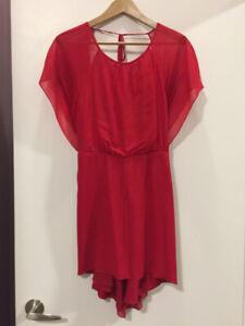 Elizabeth & James - Red Cocktail Dress (XS)