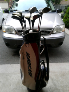 Golf bag and ping clubs