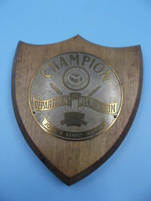 VINTAGE 1950 Jersey City , New Jersey CHAMPION Gymnastics Trophy PLAQUE