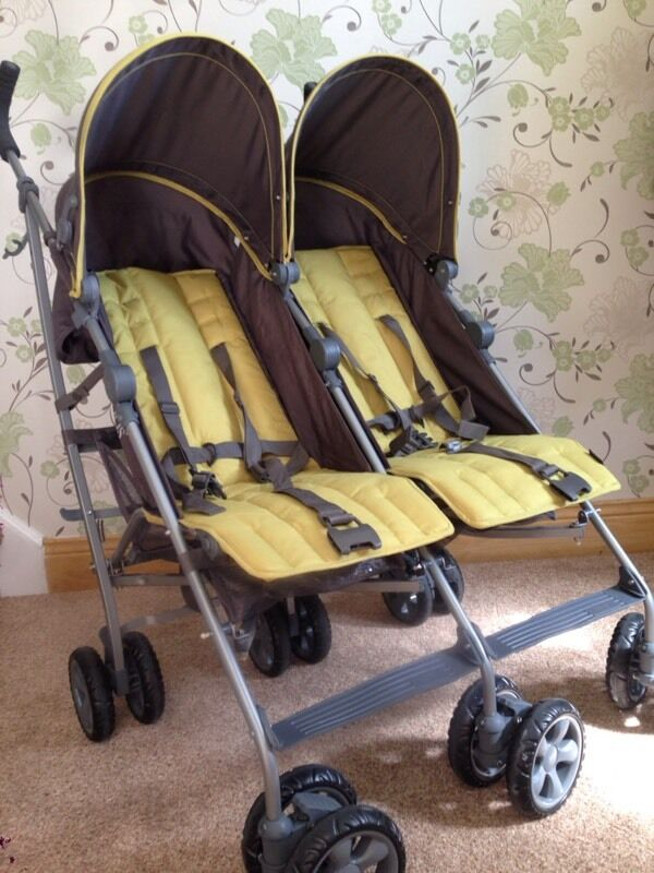 Mamas And Papas Kato 2 Twin Double Buggy Pushchair In