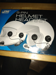 Helmet headset new in box.